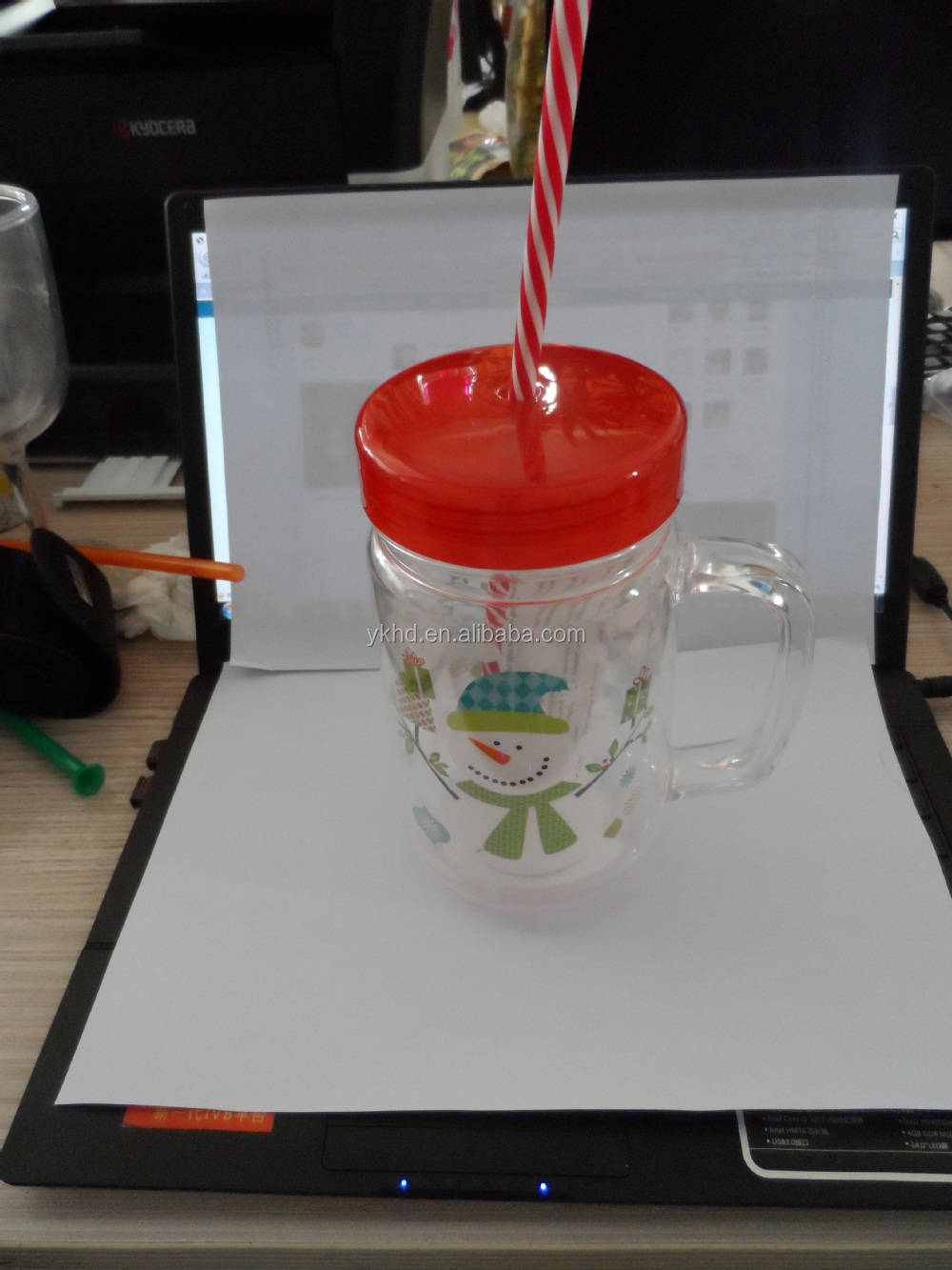 Double Wall Acrylic Tumbler with Straw