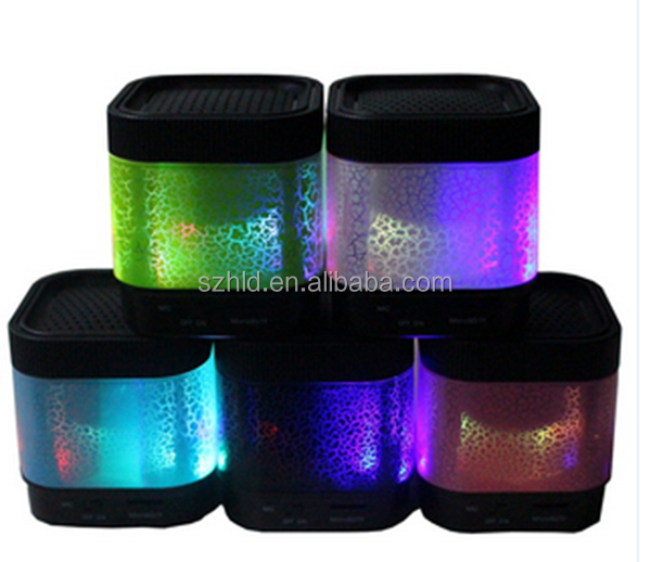 2017 new model style A7 colorful multifunctional mini bluetooth speaker with LED light