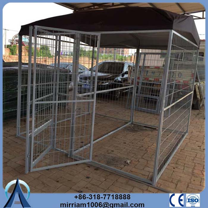 Spain Hot sale or galvanized comfortable general cage slant-front collapsible dog crate