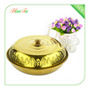 Wholesale Golden Color With Lid Stainless Steel Round Food Tray