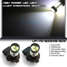 2 years warranty LED fog light with 360 degree perfect emitting 80W fog lamp chevrolet aveo