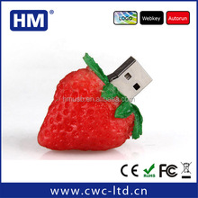 bulk cheap lovely strawberry shapeusb pen drive wholesale