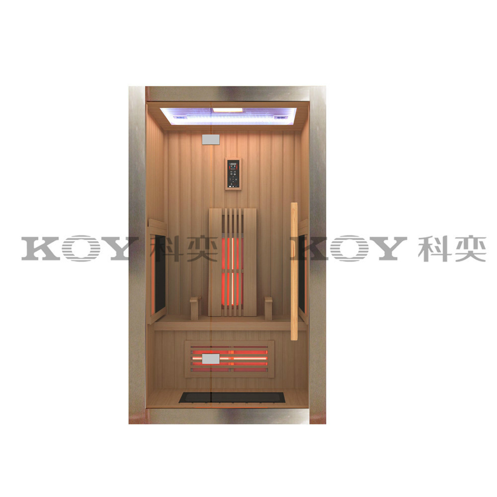 2016 Modern house design infrared sauna room B01-L4 (with stainless steel column)