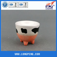Novelty Milk Cow Ceramic Egg Holder