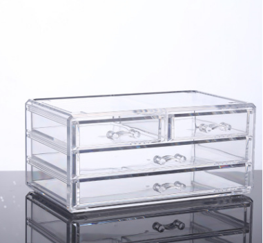 Wholesale Cheap Clear Acrylic luctie storage box with drawers