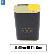 Wholesale Cooking Oil Food Grade Square 1 Liter Custom Olive Oil Metal Tin Cans
