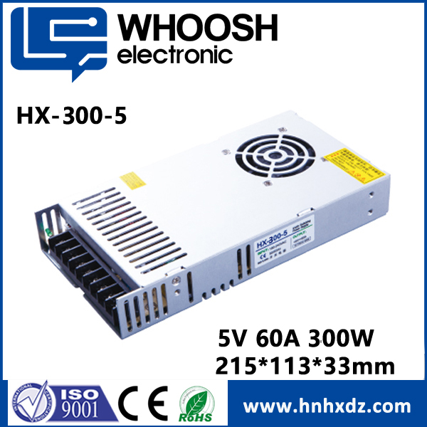 220V AC DC Regulated 12V 5V 60A 300W Power supply for full color LED display