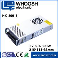 220V AC DC Regulated 12V 5V 60A 300W Power supply for full color LED display