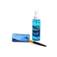 opula screen cleaning set with gel spray cleaner, microfiber cloth, fanshaped brush with MSDS for mobile phone, computer,camera