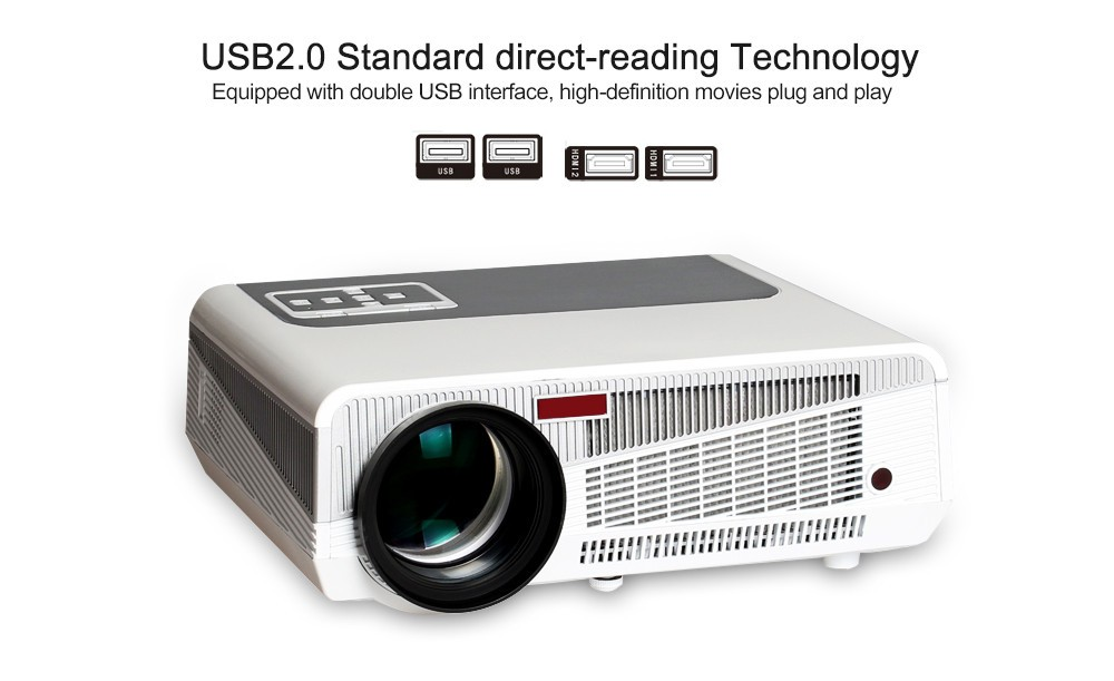 Full HD LED86+ LCD Projector 3D 160W 2800lumens LED Home Theater Projector