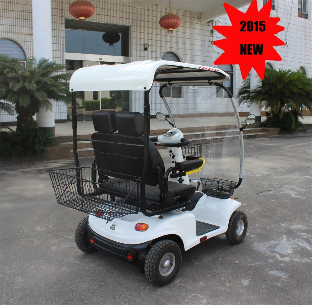 2015 New !!! 1500W Big Size with Hard Canopy Glass Rain Window 2 seat Electric Scooter