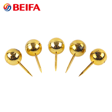 Beifa Brand NP0003 Low Price Gold Plated Plastic Head Round Custom Push Pins Thumb Tacks