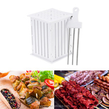 A 36 Holes BBQ Barbecue Skewers, Plastic Fruit Skewers, kebab skewer machine
