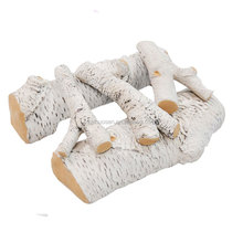"16"" Birch Ceramic Fireplace Gas Logs - 5 Piece"