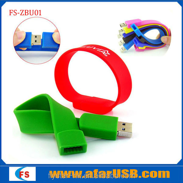2014 New bracelet usb! Hot selling Silicone Bracelet USB Flash Drive ,usb wristband