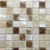 KB stone 4x4 inch Sample of Honey Onyx 1 X 1 Polished Mosaics Wall Tiles