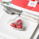Clear Wedding Table Ornament Candy Plastic Heart Shape Box