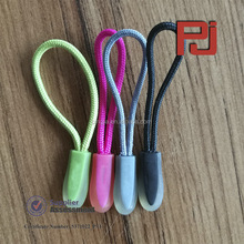 High quality OEM design rope silicone nylon zipper puller