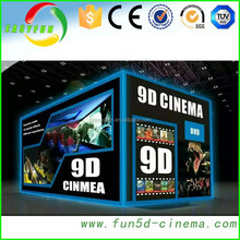 2015 oversea hot sale removable mobile 9 seats 9d cinema simulator and 1080p full hd media player vidio audio home cinema