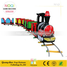 Fiberglass track train Christmas electric ride on train with tracks for entertainment center
