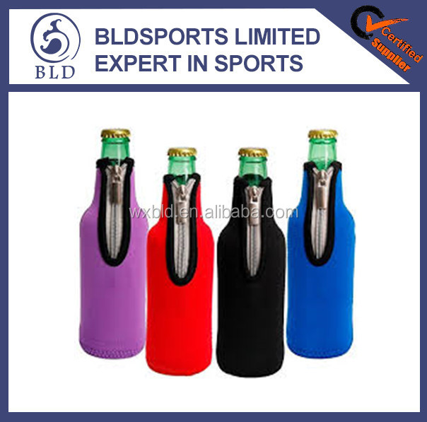 2016 wholesale price and custom printed neoprene bottle cooler