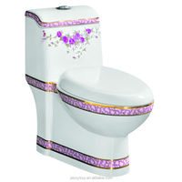 elegant design siphonic one piece red rose bio toilet 259 red rose