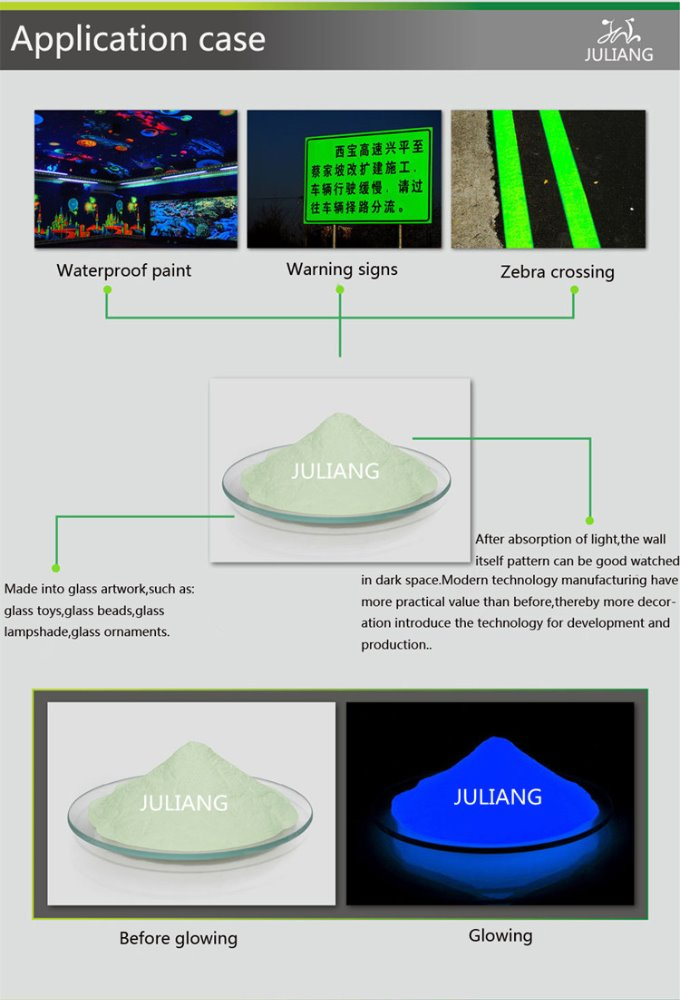 glow in the dark road marking paint and luminous pigment