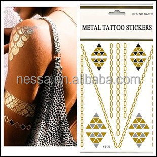 New fashionable low mini order glow in the dark temporary tattoo custom wholesale NSTK-12