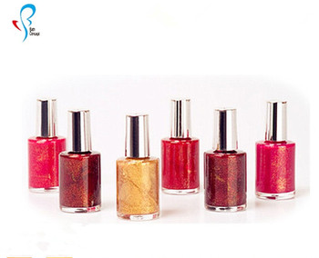 waterproof long lasting shimmering powder bright color nail polish