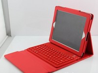 Groupon Ipad Wireless Bluetooth 3.0 Silicone Keyboard With Leather Stand Cover Case For ipad 2 3 Ipad Bluetooth Keyboard