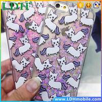 Unicorn Cat Liquid Glitter Phone Case Cover For iphone 5/5C/6/6/6 Plus,For Samsung Galaxy S5/S6/S6 Edge/Note 3/Note 4/Note 5