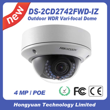 hikvision ip camera 4MP WDR Vari-focal Dome Network Camera DS-2CD2742FWD-I(Z)(S) digital cctv security camera system wireless
