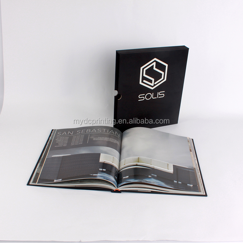 Perfect binding hardcover book <strong>printing</strong> with hard sleeve