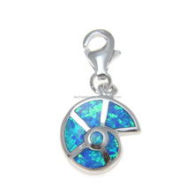 Fine Jewelry Plata 925 Sea Snail Opal Pendant Charm for Jewelry Making