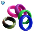 Amazon Hot Selling Silicone Wedding Ring colors optional small order accepted