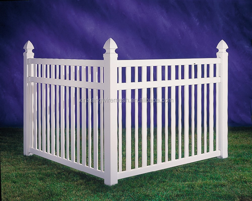 pas cher blanc pvc vinyl picket fence usine vente directe cl tures treillis et portails id de. Black Bedroom Furniture Sets. Home Design Ideas