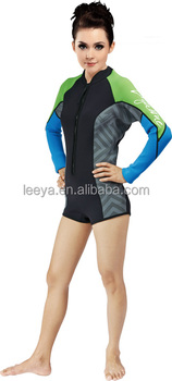 OEM/ODM fashion CR neoprene scuba diving surfing women sexy wetsuit W-5