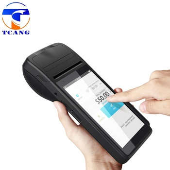 Portable 5.5inch android pos touch system NFC reader thermal printer mobile