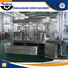 Automatic small wine carbonated beverage beer soft drink pure water liquid hot filling machine / production line