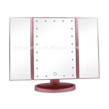Professional vanity lighted 3x magnifying makeup mirror