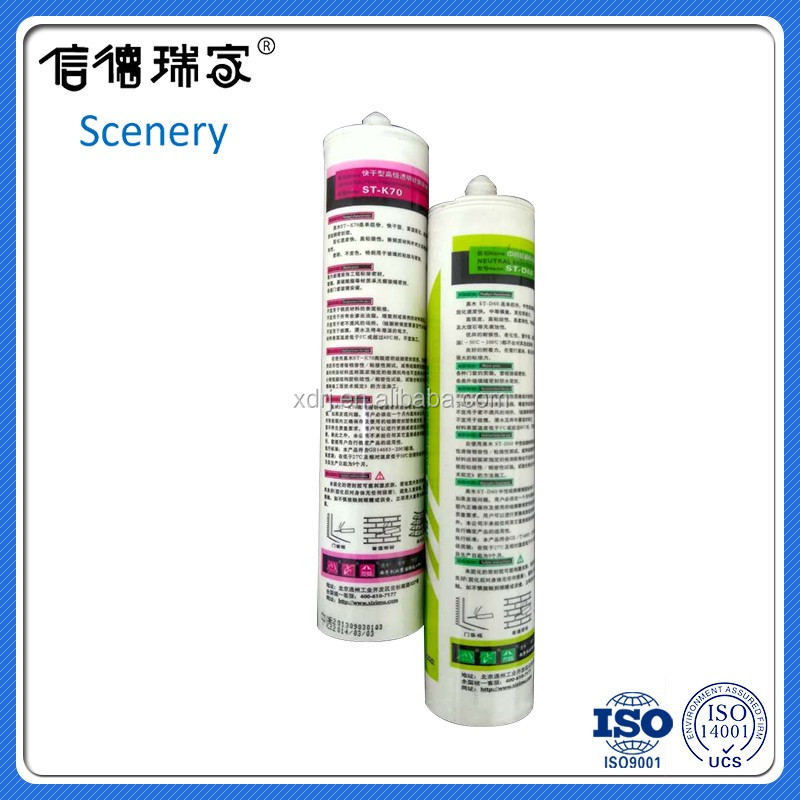 universal use 300ml neutral clear silicone sealant