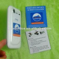2013 Hot selling promotion silicone mobile phone screen cleaner sticker