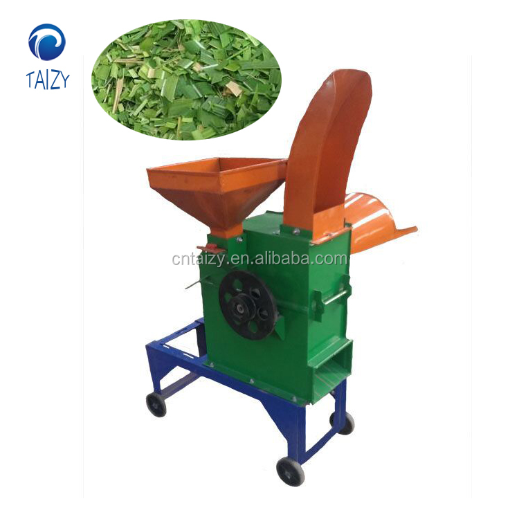 China supply Hot sale 400kg/h electric grass cutting machine/electric animal Chaff Cutter/feed grass chopper