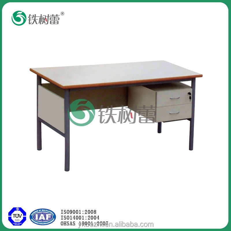 TSL-8168-B early education wooden teacher desk with 2 fixed drawers
