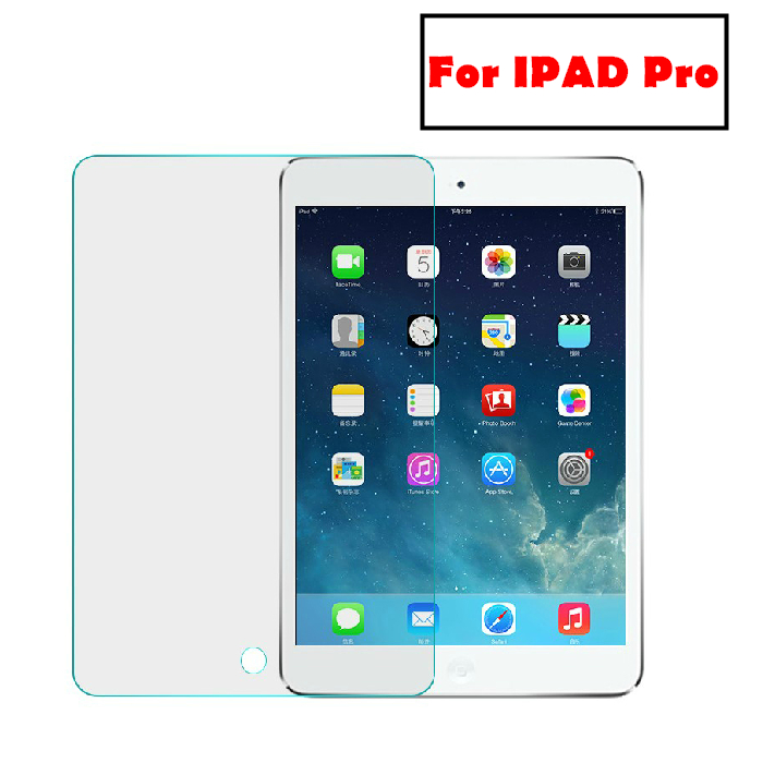 "for apple ipad mini 2/4 air 2 pro 9H hardness tempered glass screen protector film suits 9.7"" 12.9"" clear color"