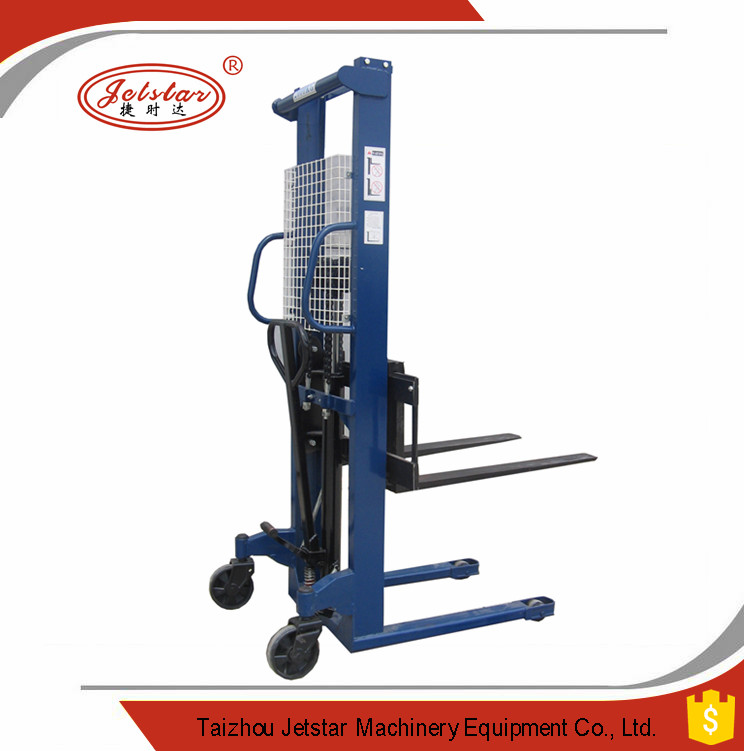 CE/ISO certification manual hardness iron Hydraulic pallet Stacker