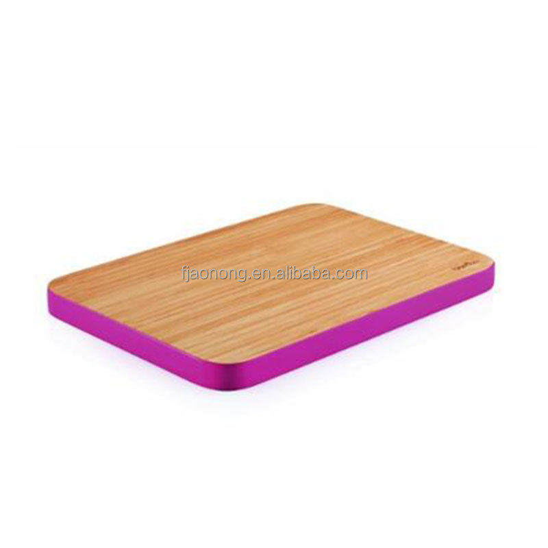 Eco-friendly hot sale-- bamboo cutting board with colorful edge