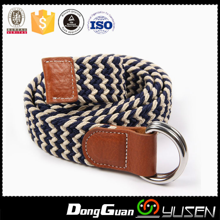 Good Quality Fashion Style Unique Mix Colour Casual Web Belts For Men