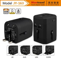 2017 best promotional gift popular universal travel adapter with usb charger adaptor