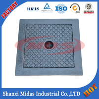 Manufacturing EN124 D400 heavy duty casting ductile iron manhole cover
